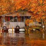 house-on-water-in-autumn