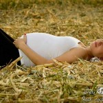 pregnant lying on the field