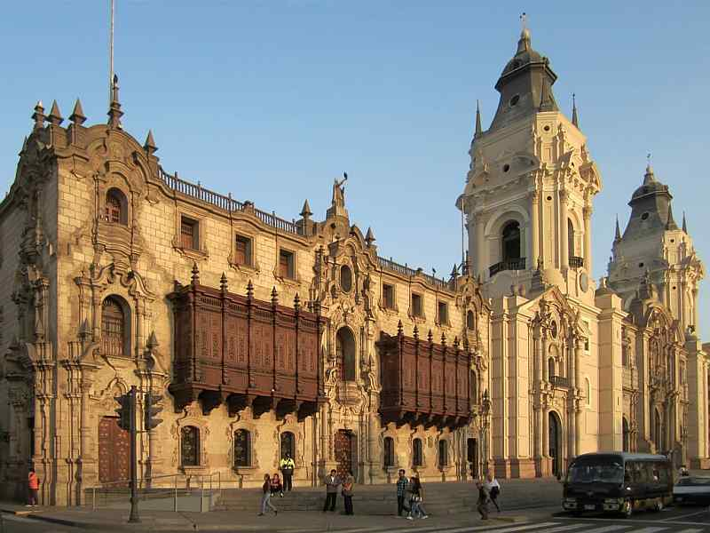 Archipishop's Palace and Cathedral of Lima