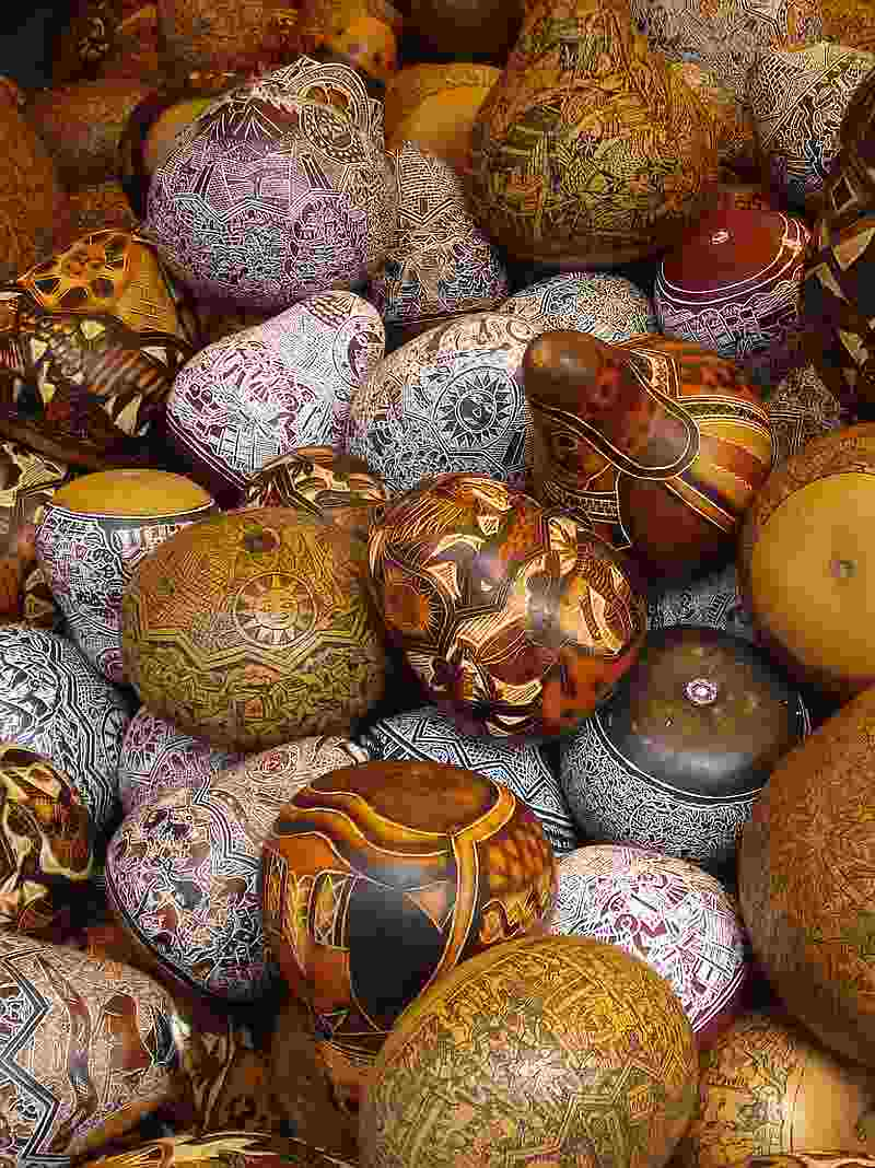 Carved Gourds, Taray, Cusco