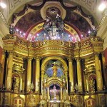 Gilded Altar, Cathedral of Lima, Peru.