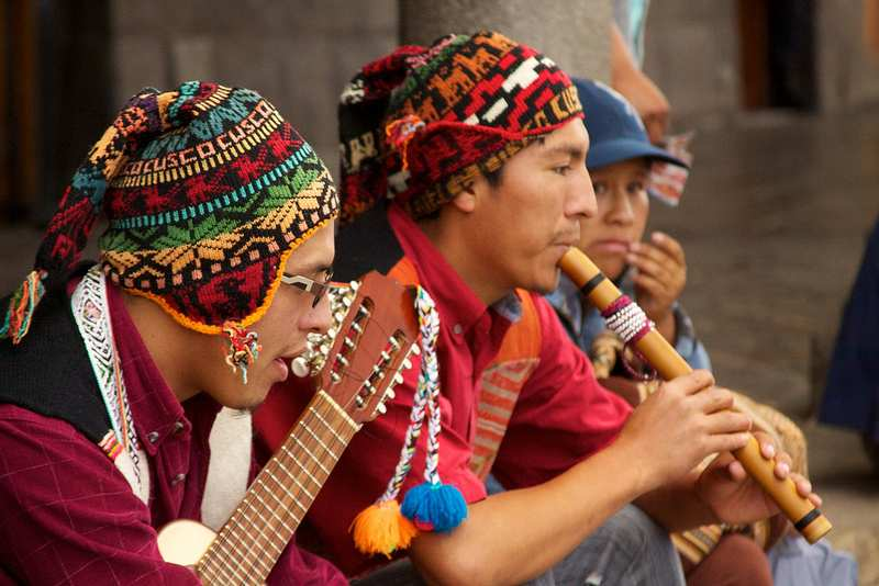 Music at an Andean dance festival