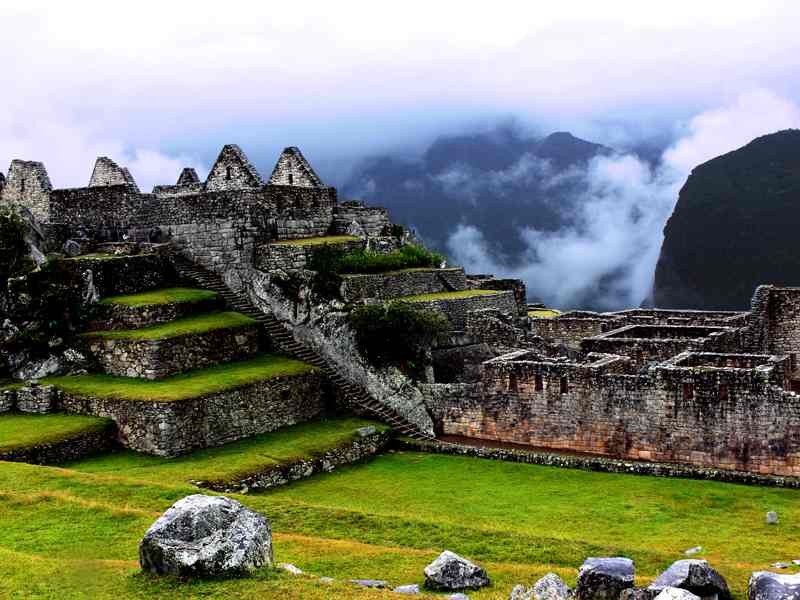 Stairs at Machu Picchu