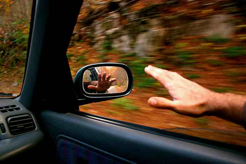 driving in the fall colors