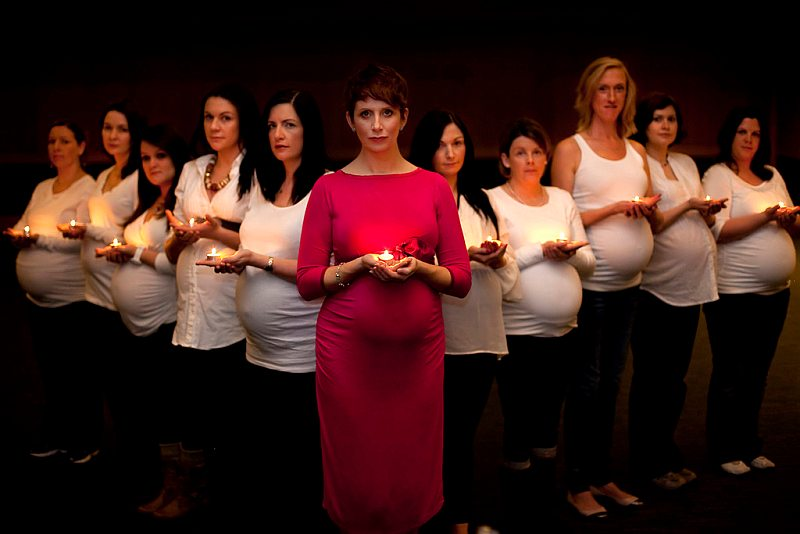 group of pregnant moms