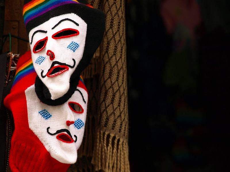 Andean masks in Cusco